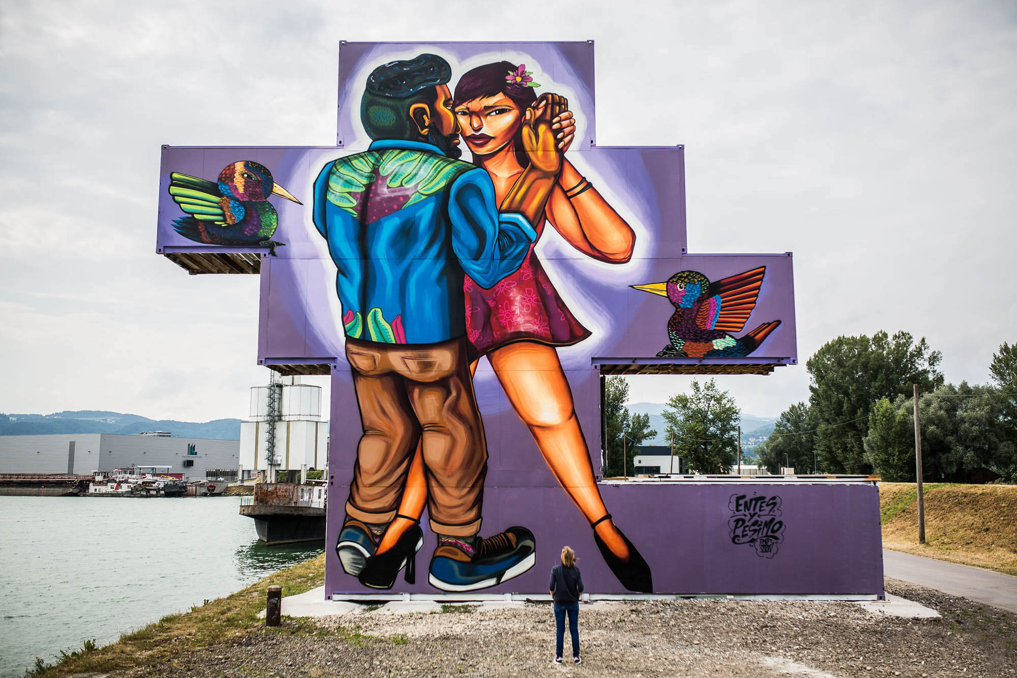 mural harbor graffiti linz austria entes y pesimo flap photography fotograf philipp greindl photographer